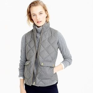 J Crew Excursion Quilted Vest Gray Small